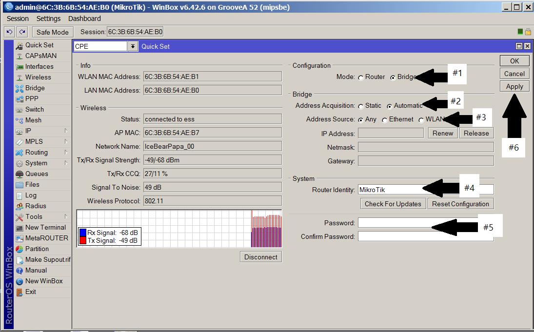 MikroTik Client Configuration